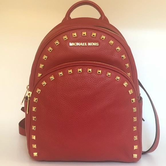 8a099a71424be Michael Kors Bags   Medium Abbey Studded Backpack Handbag   Poshmark